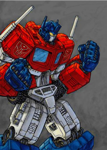 TRANSFORMERS - OPTIMUS PRIME SKETCH ART canvas print - self adhesive poster - photo print